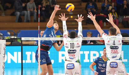 VOLLEY: Superlega, Ravenna lotta contro Trento ma cede sul 3-1