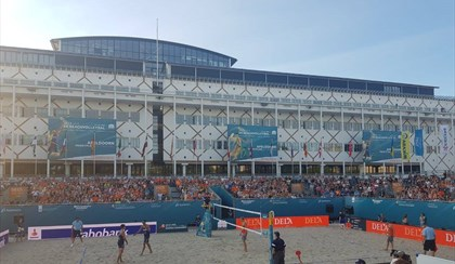 BEACH VOLLEY: Lottano con coraggio Caminati-Rossi, esordio con sconfitta all'Europeo | FOTO