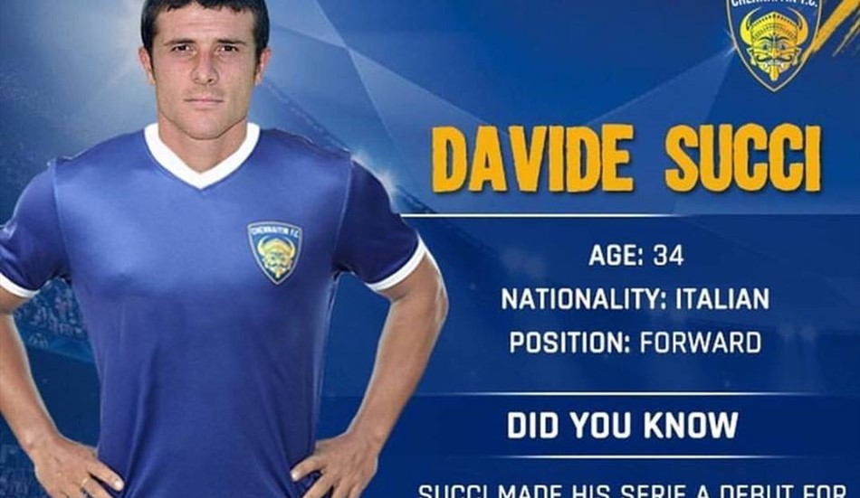 CALCIO: Davide Succi migra in India